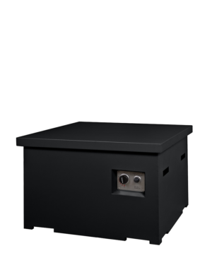 Cocoon table | Vierkant zwart met deksel