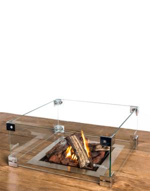 Cocoon Table Inbouwbrander Vierkant Met Glas
