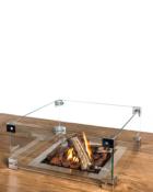 Glazen Ombouw Cocoon Table Inbouwbrander Vierkant Sfeer