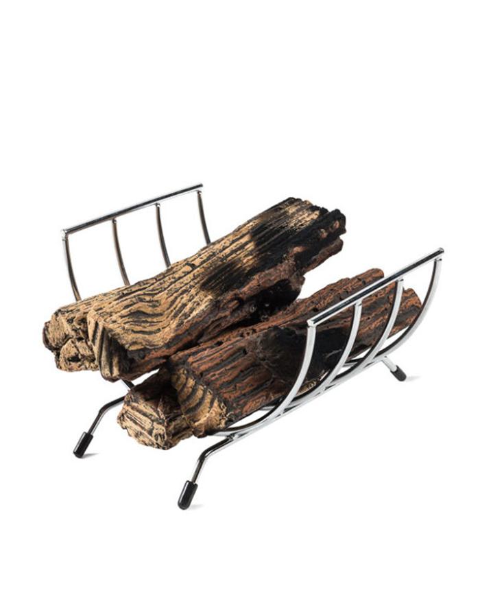 Keramische houtblokken inbouwbrander
