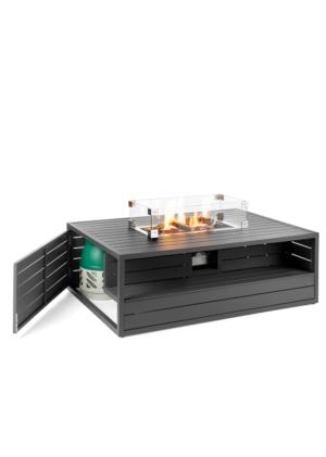 Cocoon Table Rechthoek Aluminium Antraciet (1)