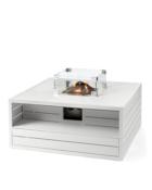 Cocoon Table Vierkant Aluminium Wit (1)